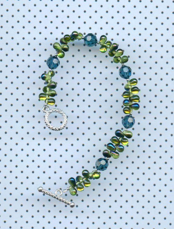 Montana Blue Bracelet          N1045 by jewelry49 on Etsy, $24.00