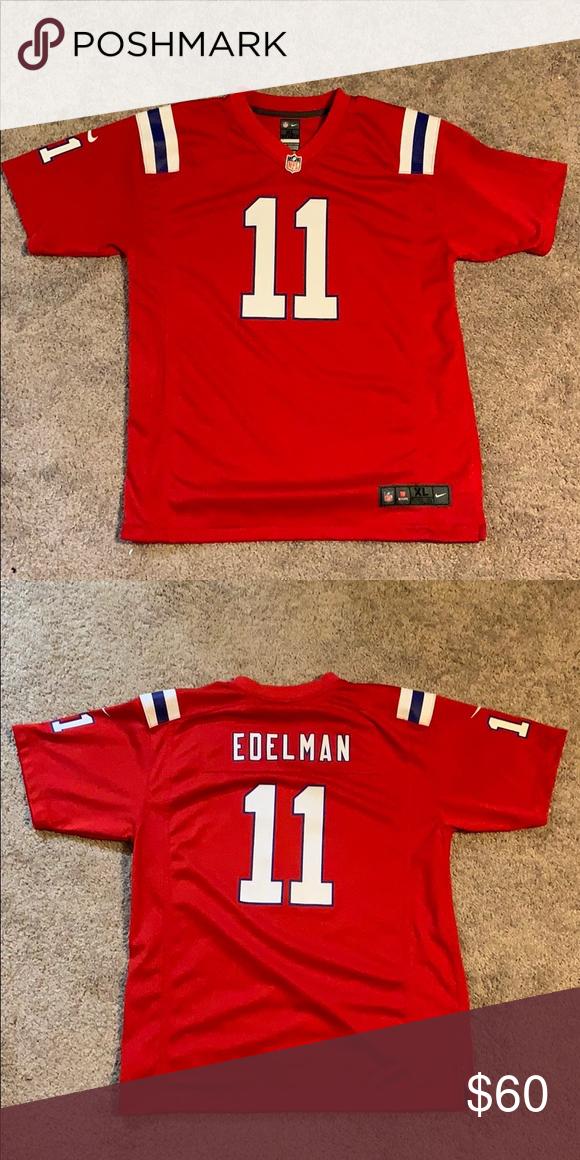 reputable site ae627 a2ebe Nike NFL Patriots Color Rush Julian Edelman Jersey Julian ...