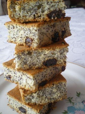 Makuszek - ciasto z białek i maku