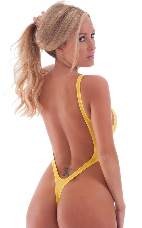 ad26306961a4 Womens-One-Piece-Thong-Swim-Suit-in-Semi-Sheer-ThinSKINZ-Buttercup-by-Skinz