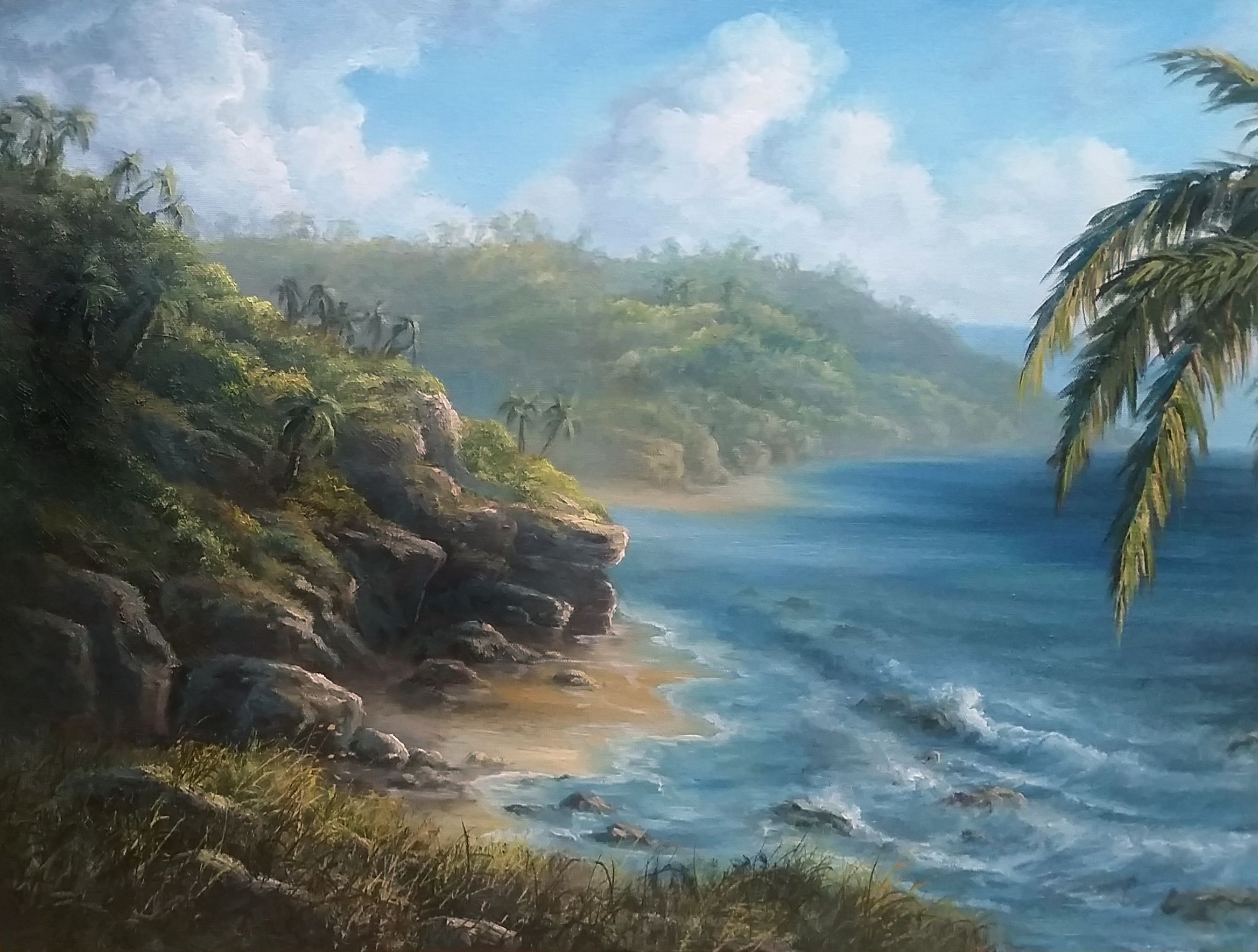 The Rocky Coast Oil Painting By Kevin Hill Watch Short Oil Painting Lessons On Youtube Kevinoilpainting V Kevin Hill Paintings Kevin Hill Landscape Artist