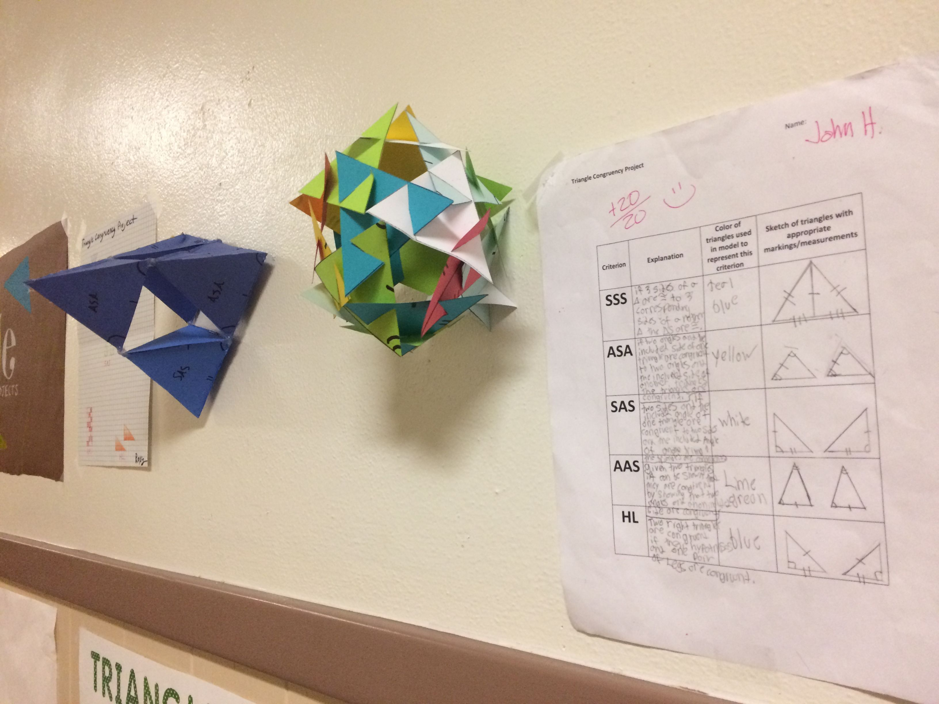 Triangle Congruence Project
