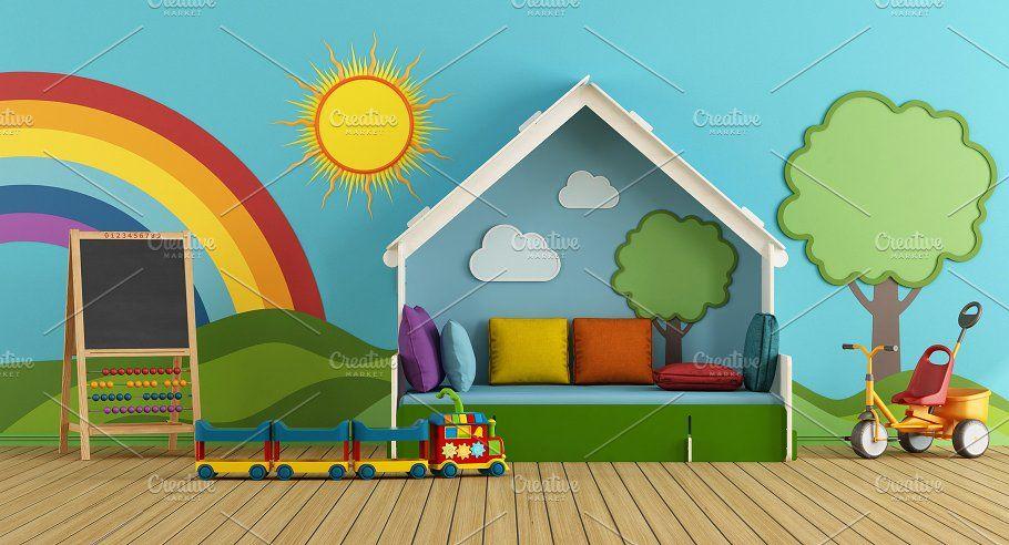 Colorful Playroom Colorful Playroom Playroom Kids Room