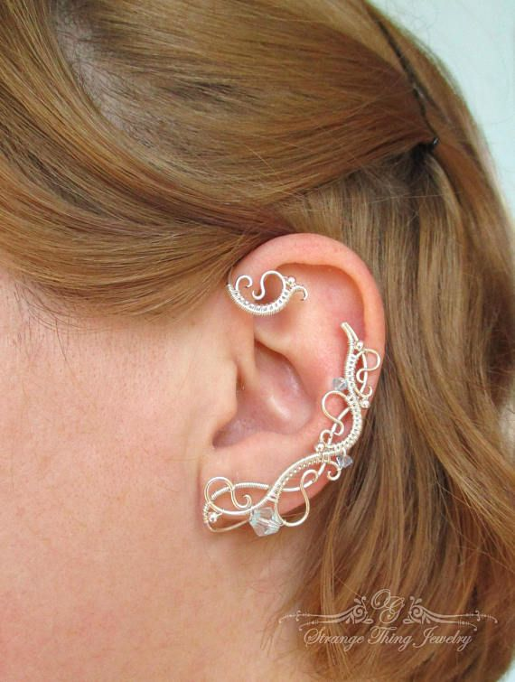 Pair of ear cuffs White Frost