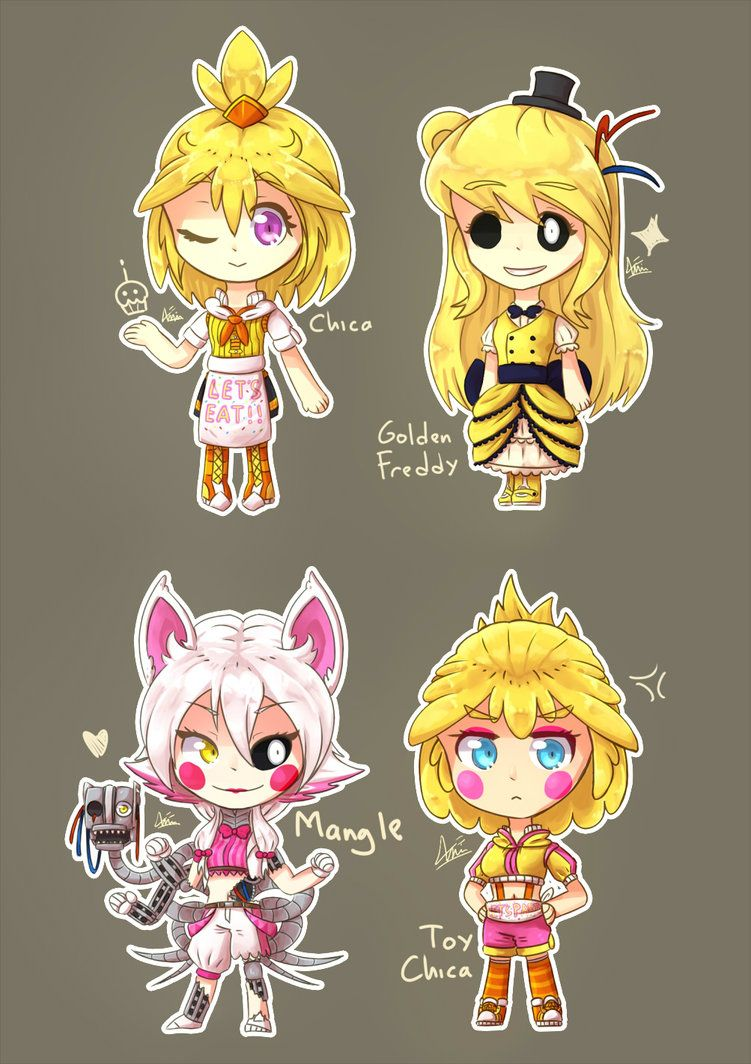 Fnaf dress up game - Fnaf Chibi By Kkkkenway On Deviantart I Want A Dress Like Golden Freddy S