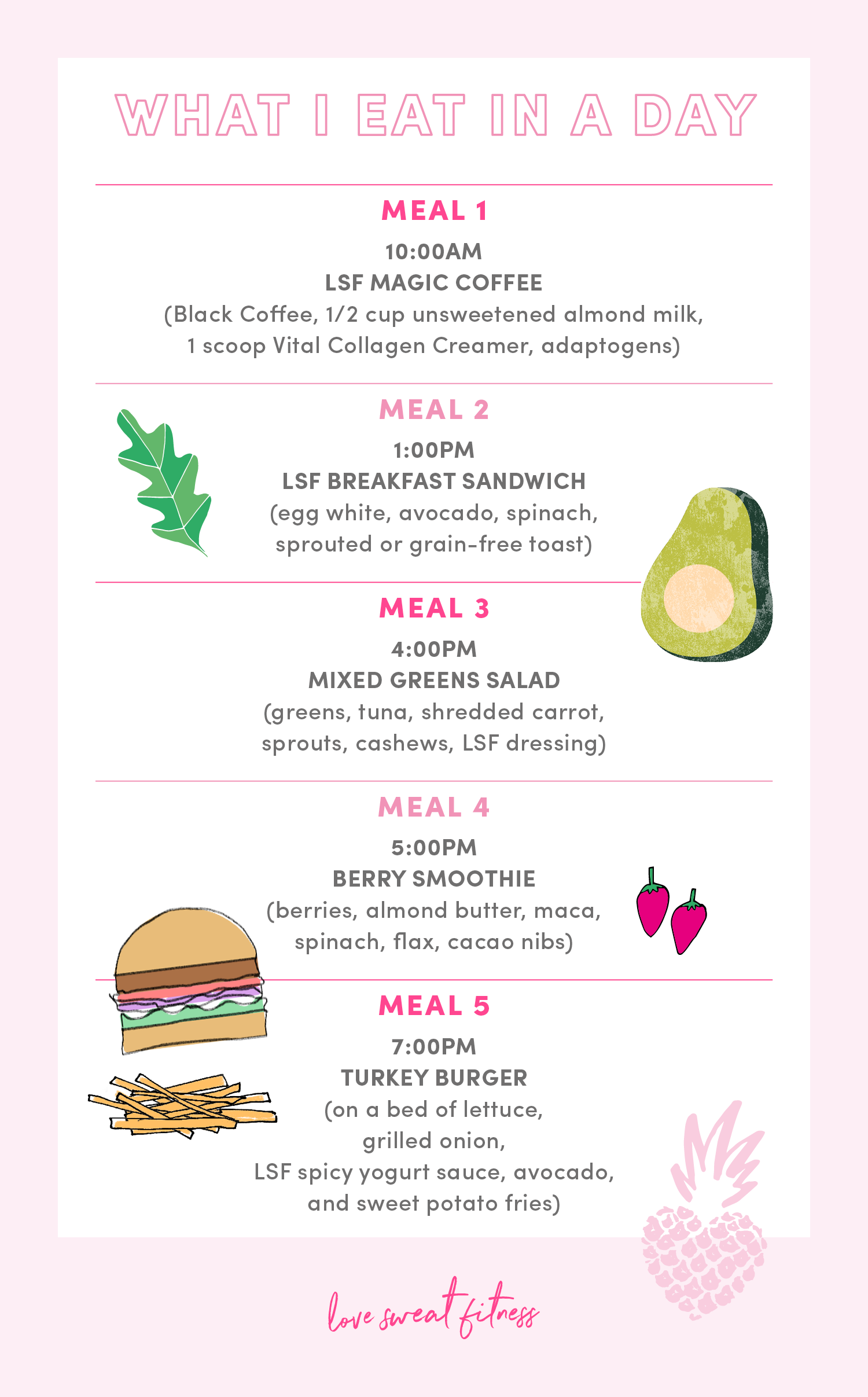 Love Sweat Fitness Love Sweat Fitness Workout Food Workout Meal Plan