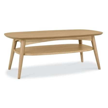 Skandi Oak Coffee Table with Shelf Dunelm Living room