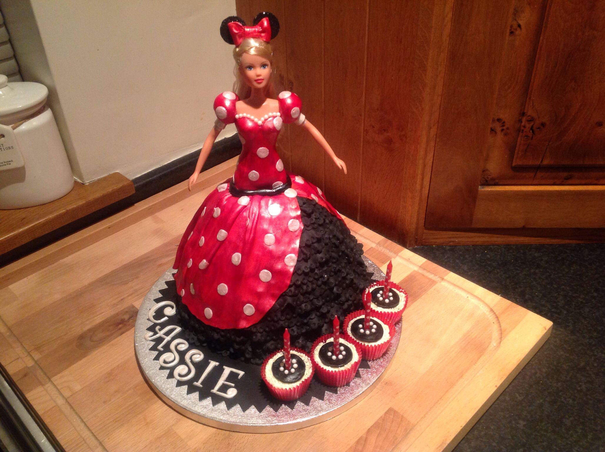 How To Make A Minnie Mouse Dress Cake