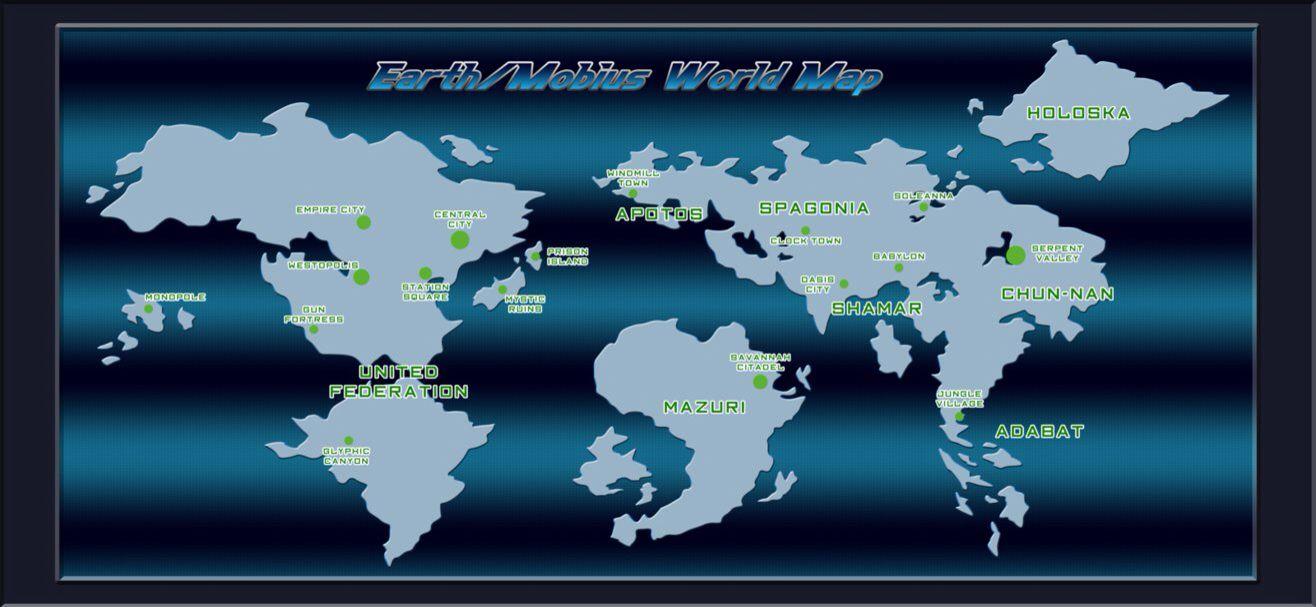 Sonic World Map | Earth Map