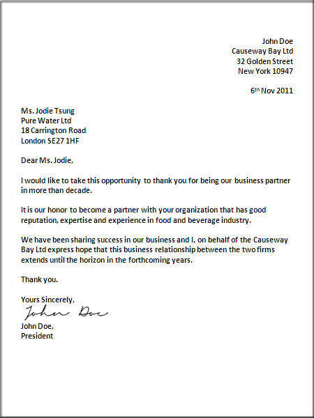 Uk Business Letter Format Business Letter Sample Letter