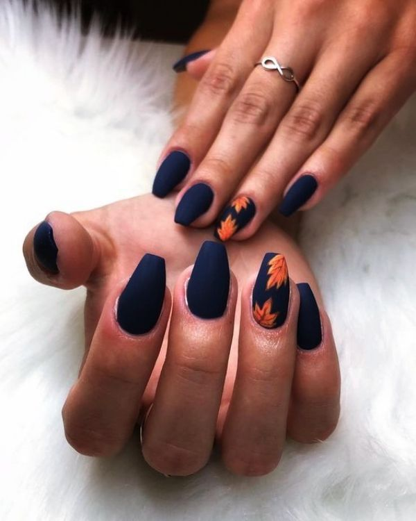 50 Trending Fall Nail Designs And Colors For 2018 Fashiondioxide Fall Acrylic Nails Gorgeous Nails Gel Nails