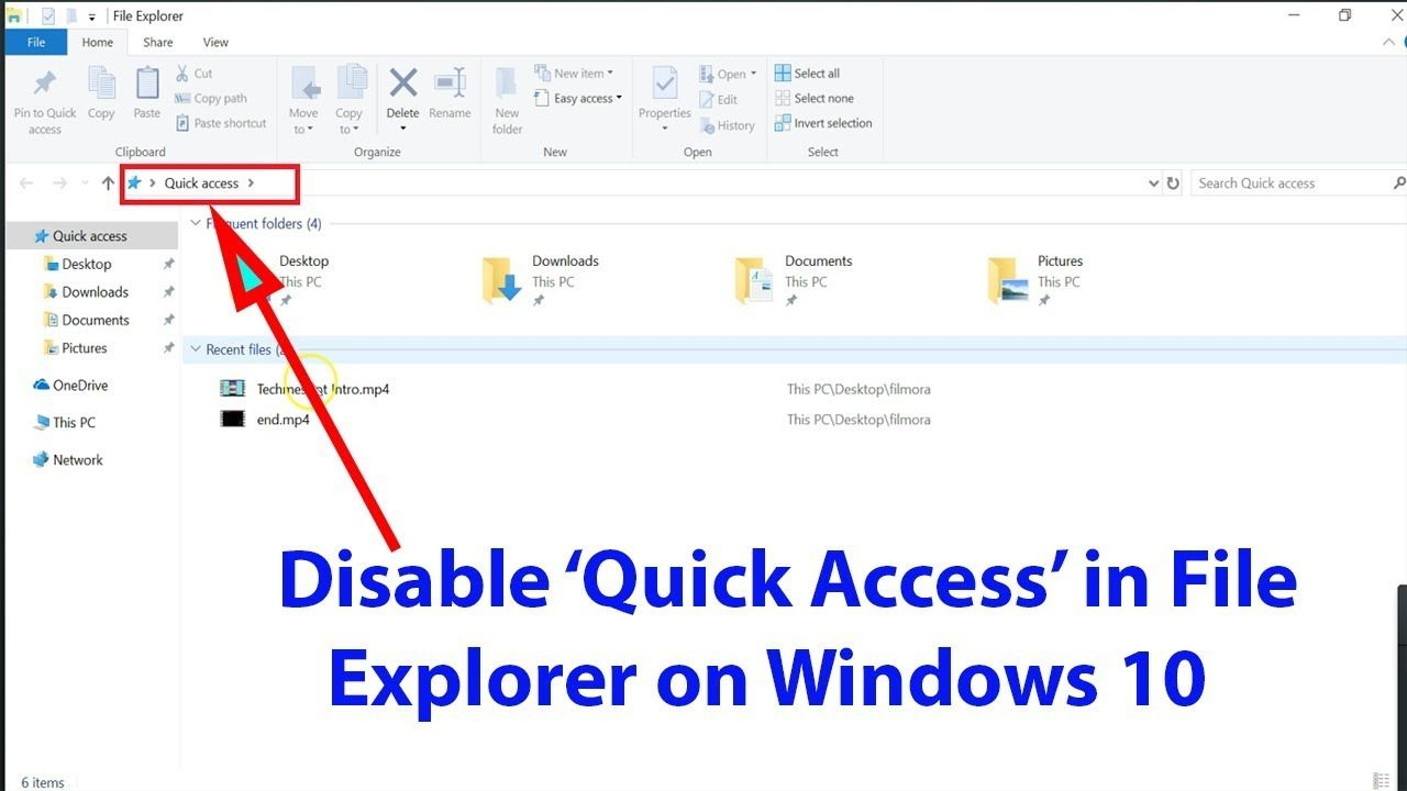 Windows 10 Tutorial How To Disable Quick Access In File Explorer Windows 10 Tutorials Windows 10 Quick Access
