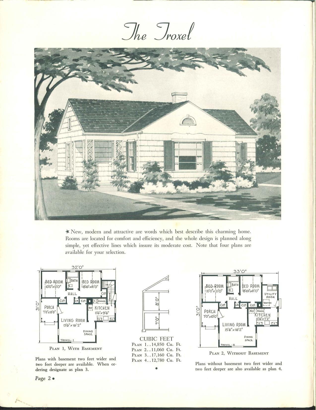 Wahlfeld 1942 | VinTagE HOUSE PlanS~1940s | Pinterest | Vintage ...