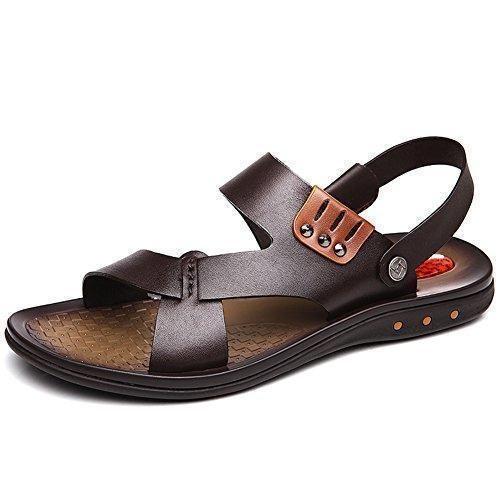 9bc0ced3b4e Comprar Ofertas de Sandalias para hombres sandalias de cuero La primera  capa de zapatos de cuero verano sandalias casuales Zapatos de los hombre  barato.