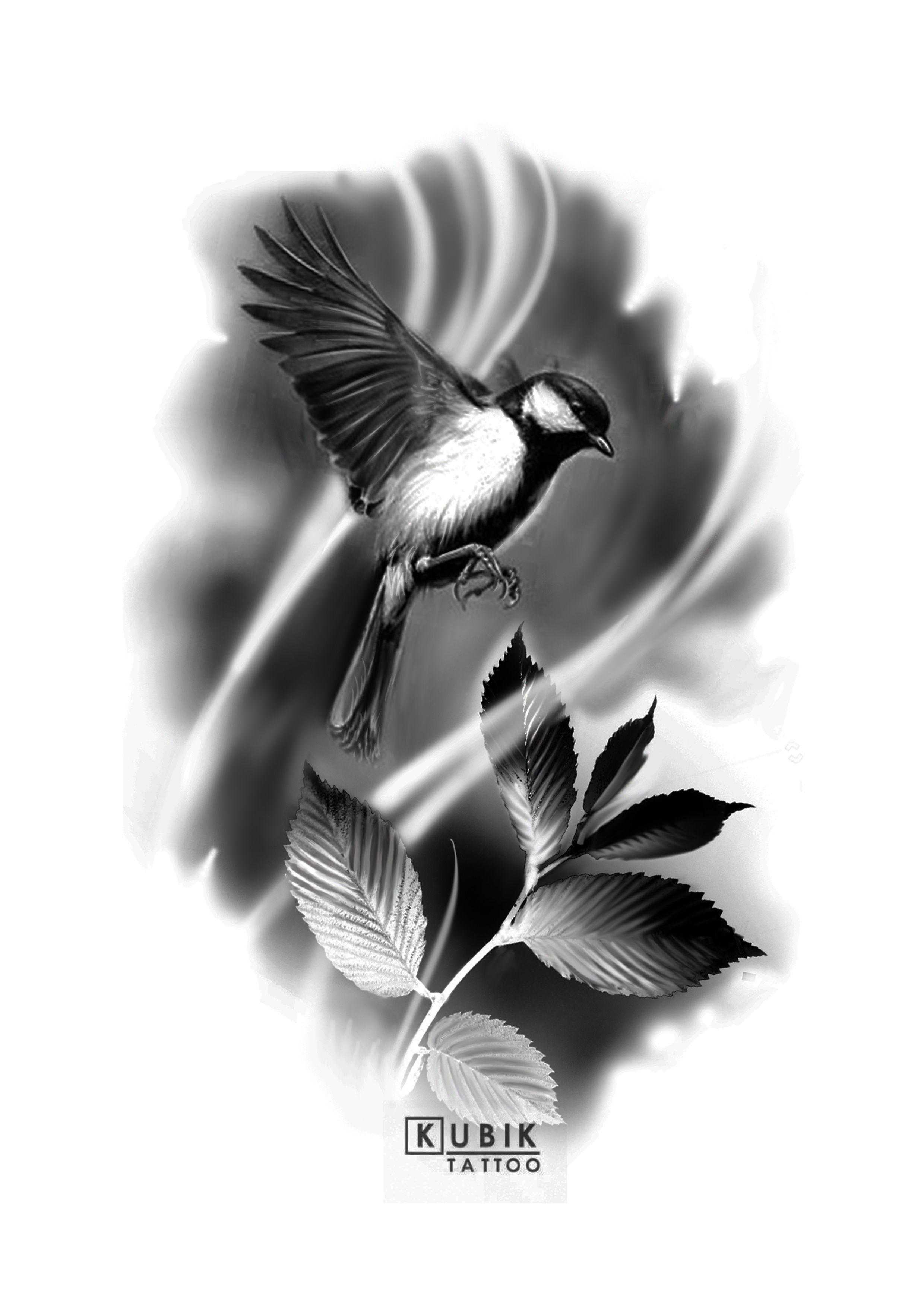Schwarz Weiß Vogel Ideias De Tatuagens Desenhos Para