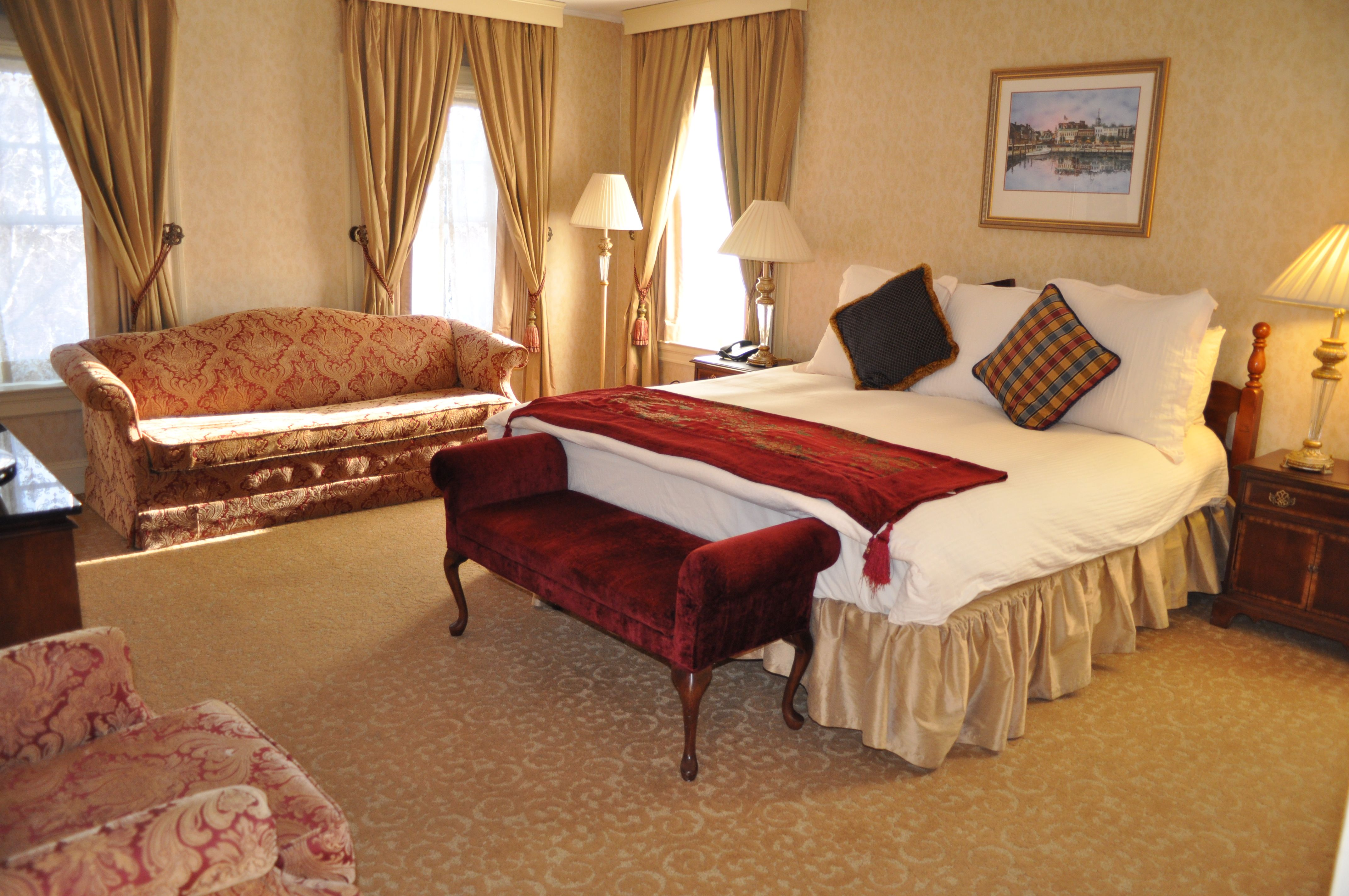 charming hotel room in the governor calvert house -- historic inns