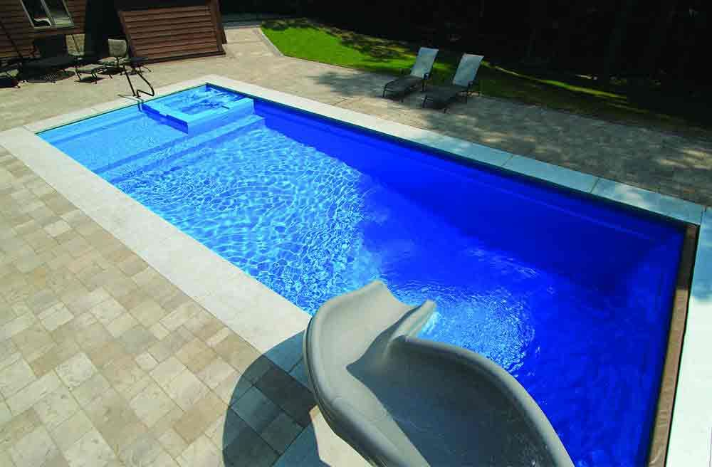 Leisure pools icon 40 pool model inground swimming - Fiberglass shells for swimming pools ...