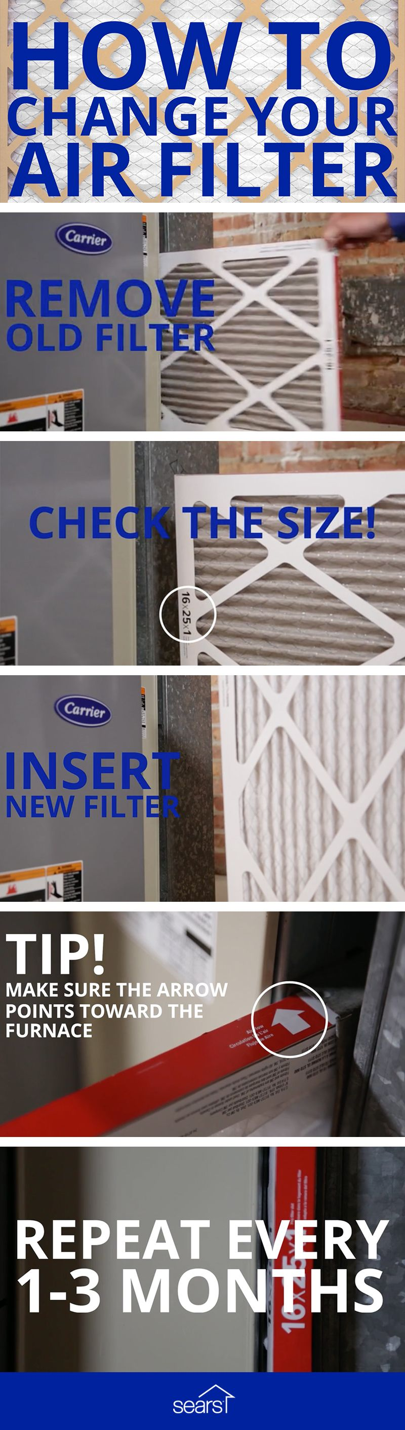 How Do You Change Your Hvac Air Filter First Remove The Old Filter Check The Size To Make Sure You Re R Hvac Maintenance Hvac Air Home Maintenance Checklist