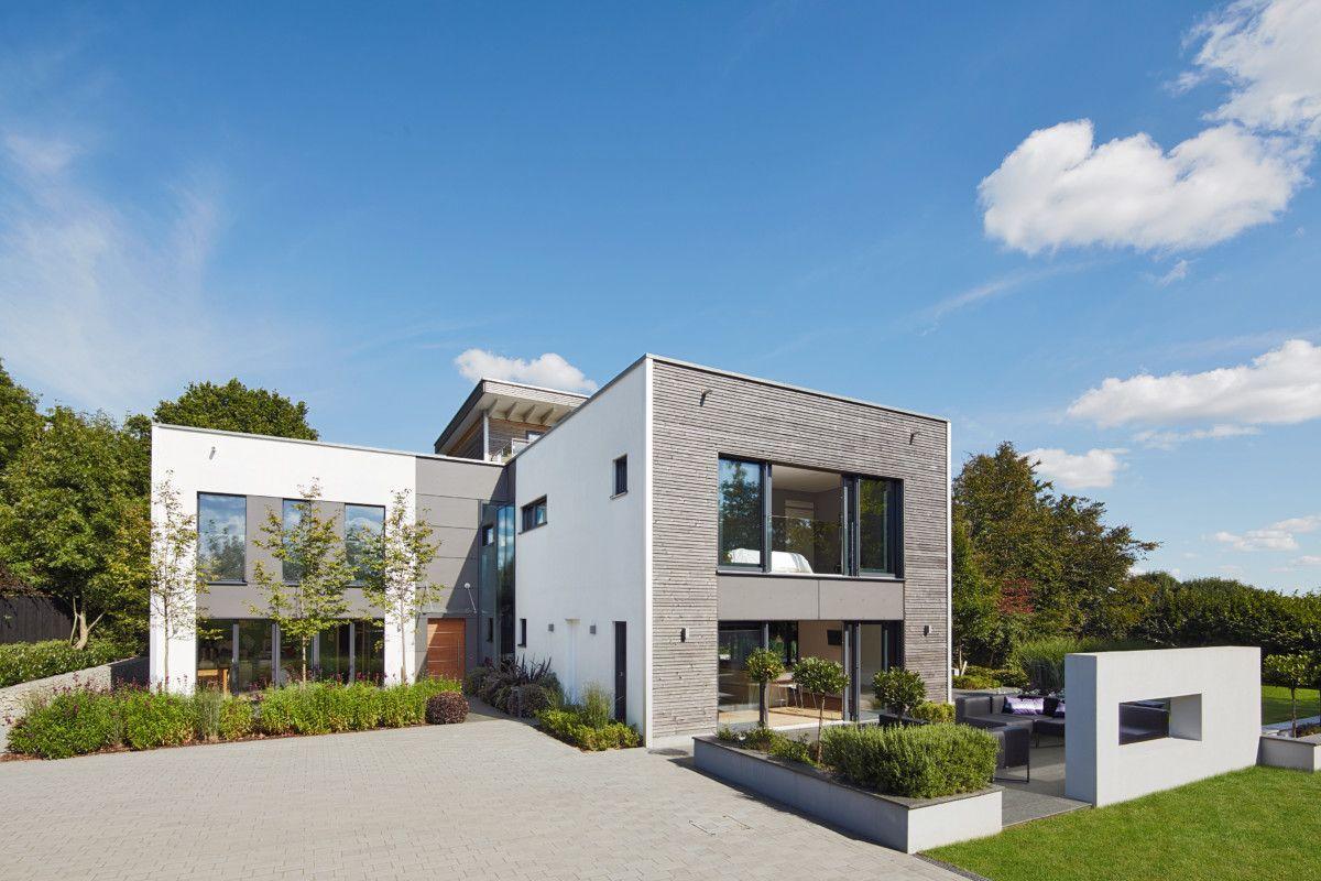 Stadtvilla modern mit Flachdach-Architektur - Design-Haus Weald ...