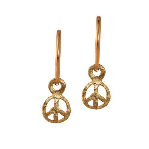Gold Tiny Peace Earring
