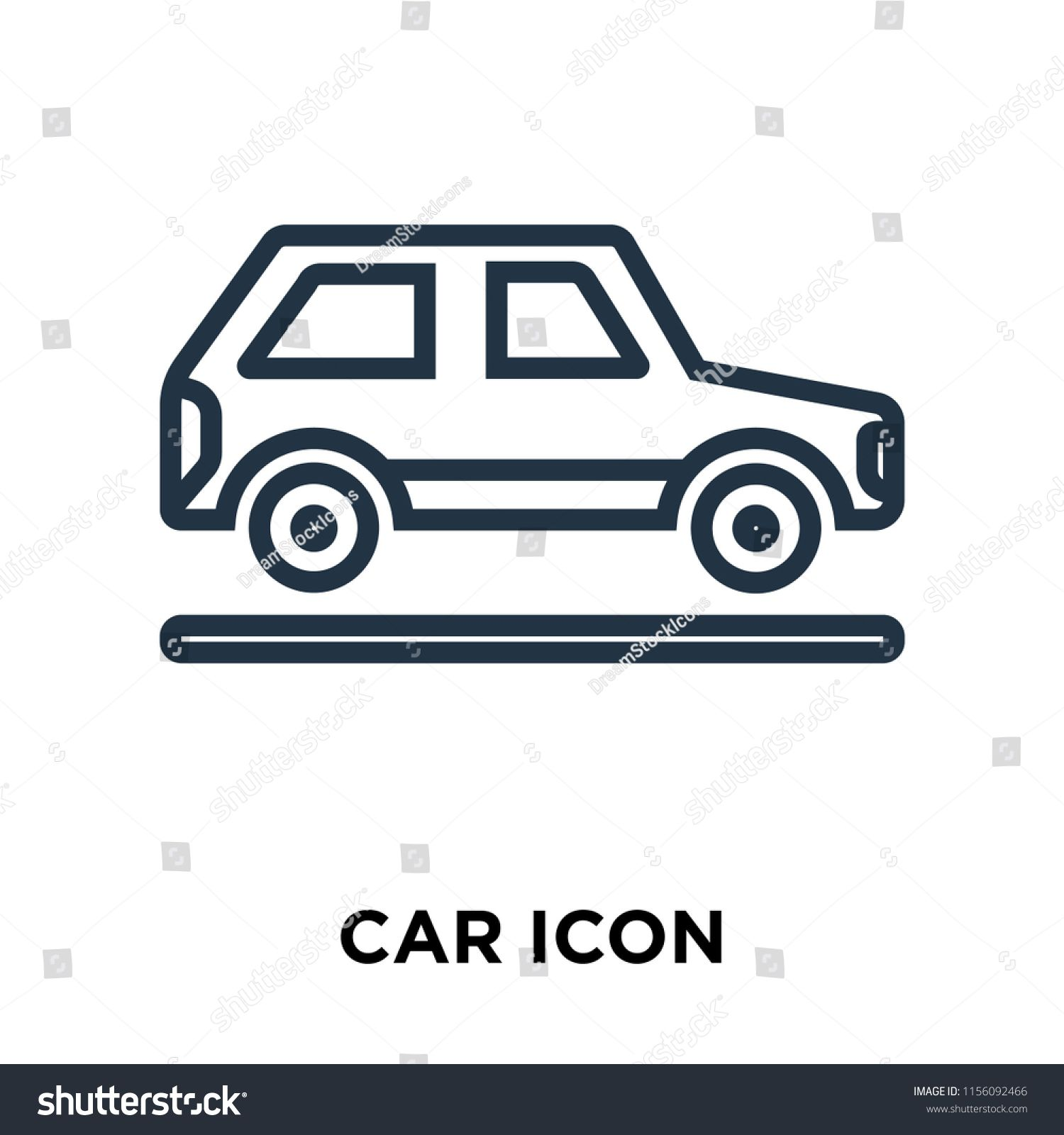 Car Icon Vector Isolated On White Background Car Transparent Sign