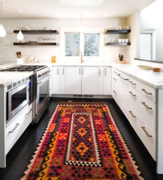 Unexpected Places to Use an Oriental Carpet   Идеи для дома on french country kitchen ideas pinterest, mexican kitchen ideas pinterest, traditional kitchen ideas pinterest, modern kitchen ideas pinterest,