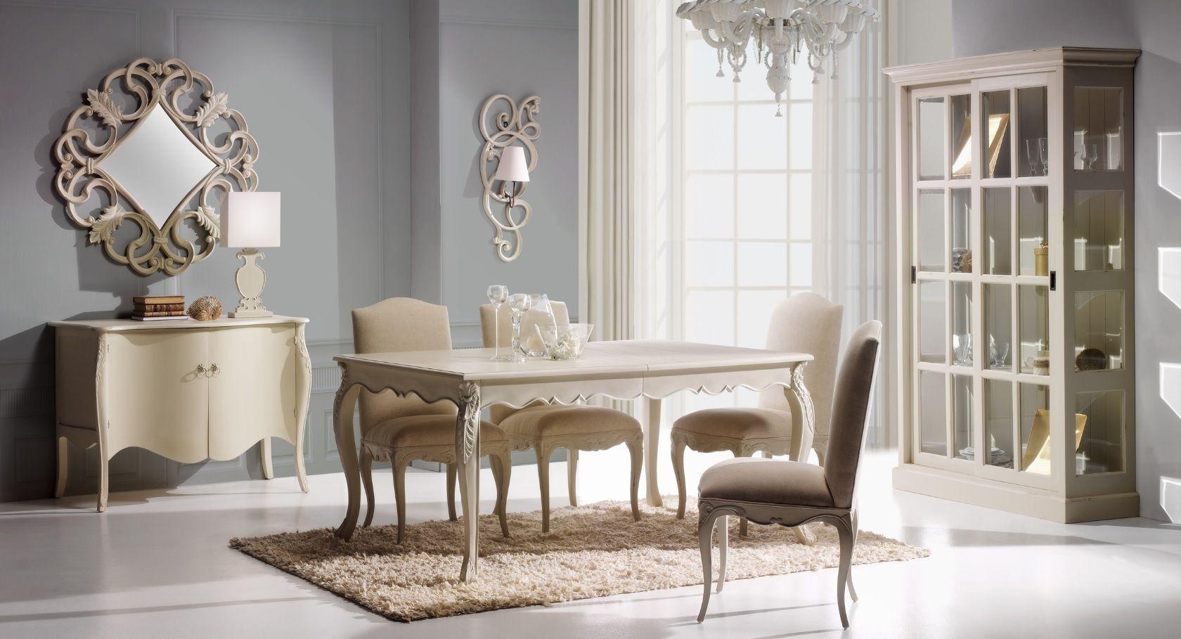 Comedor Vintage Blanco Sansa en Ámbar Muebles | muebles provenzal ...