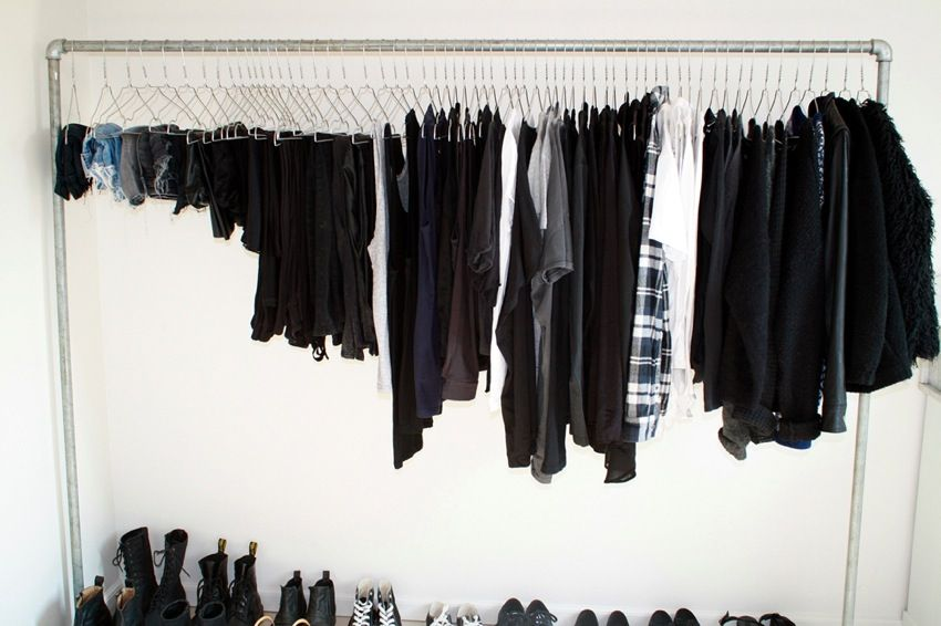 Clothing rack.