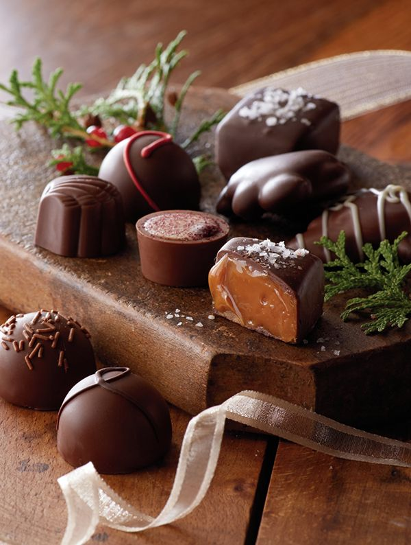 The perfect holiday gift for chocolate lovers! A variety of flavors with assorted chocolates, truffles, and caramels.