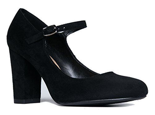 Mary Jane High Heel - Cute Round Toe Block Heel - Classic...