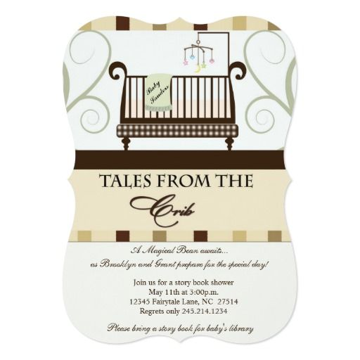 Tales from the crib storybook shower invitation baby shower invite tales from the crib storybook shower invitation stopboris Image collections