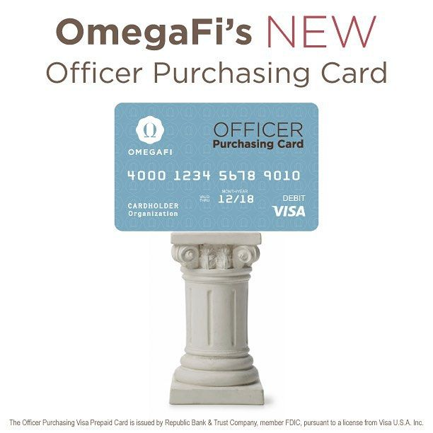 It's here! Your Officer Purchasing Visa® Prepaid Card is designed to provide chapter officers and advisors the freedom and convenience to spend without the hassle of keeping up with receipts, managing reimbursements, and without the risks associated with using cash for spending. The Officer Purchasing Card will redefine the way chapters manage expenses and officer budgets. Contact your #OmegaFi Account Manager for program details and to apply. 800.276.6342 #fraternity #sorority #greeklife…