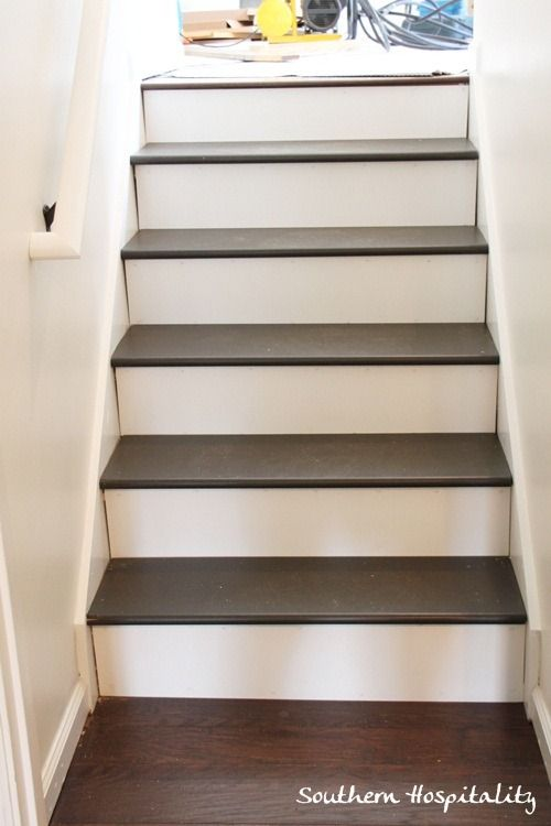 Diy Stair Case... Buy Treads And Stain Them Instead Of Stair Nosing In Our  Flooring Color?