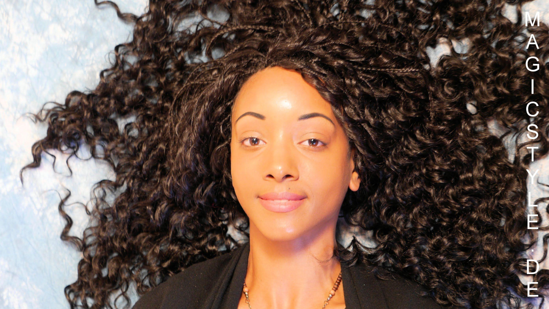 Dianas Miss Ghana Frisur Entzuckende Lockige Open Braids Aus Thermof Geflochtene Haare Braids Frisuren Haar Styling