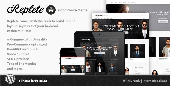 Replete e-Commerce and Business - ThemeForest Item for Sale $55
