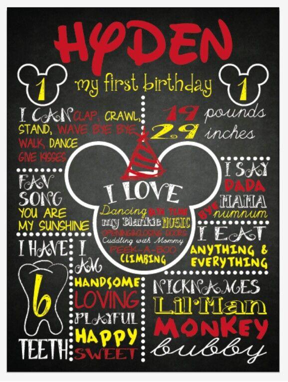 Hyden's birthday board