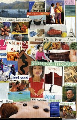 """New Year's Intentions"" Collages 2005 and 2007"