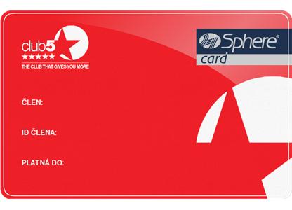 Club 5* - vrátane výhod programu SPHERE card