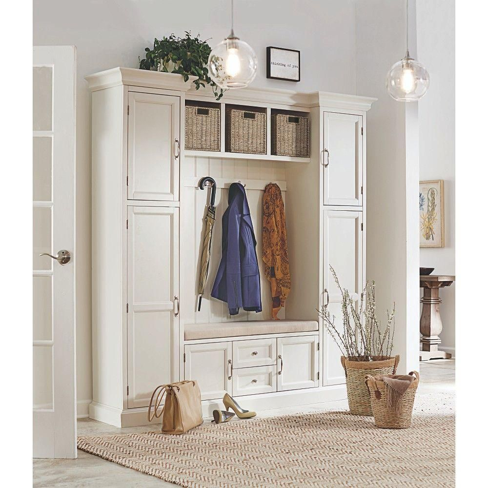 home decorators collection royce polar white hall tree white home decorators collection royce 4 hook contemporary wood all in one mudroom