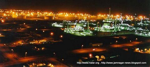 Jamnagar Refinery, India at night  Currently the world's