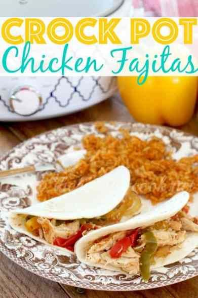 CROCK POT CHICKEN FAJITAS #recipeforchickenfajitas