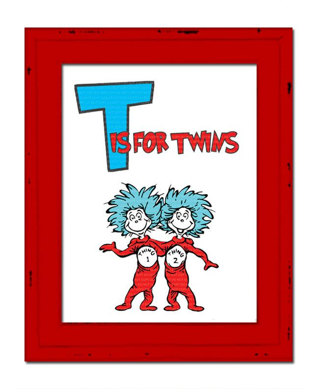 INSTANT DL Thing 1 Thing 2 Twins Wall Art By Jonyba On Etsy