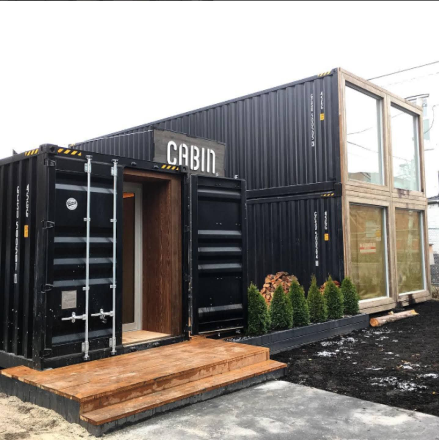 dwell photo of the week shipping container structure in toronto cargo container homes. Black Bedroom Furniture Sets. Home Design Ideas