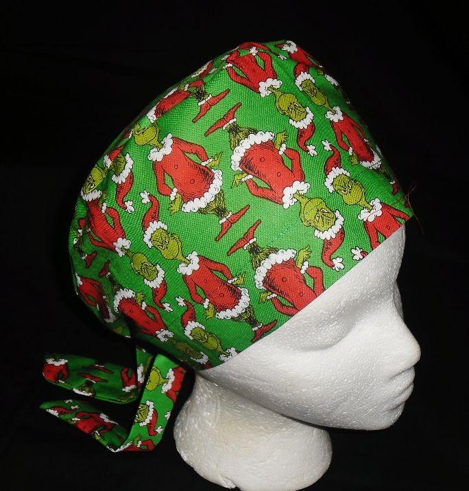 2472094ee89 Dr. Seuss How The Grinch Stole Christmas Pediatric Nurses Scrubs Cute Comfy  Hats Pixie Scrub Caps Surgical Cap Medical Hats