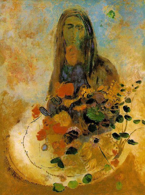 Portrait of Violet Heymann by Odilon Redon Giclee Fine ArtPrint Repro on Canvas