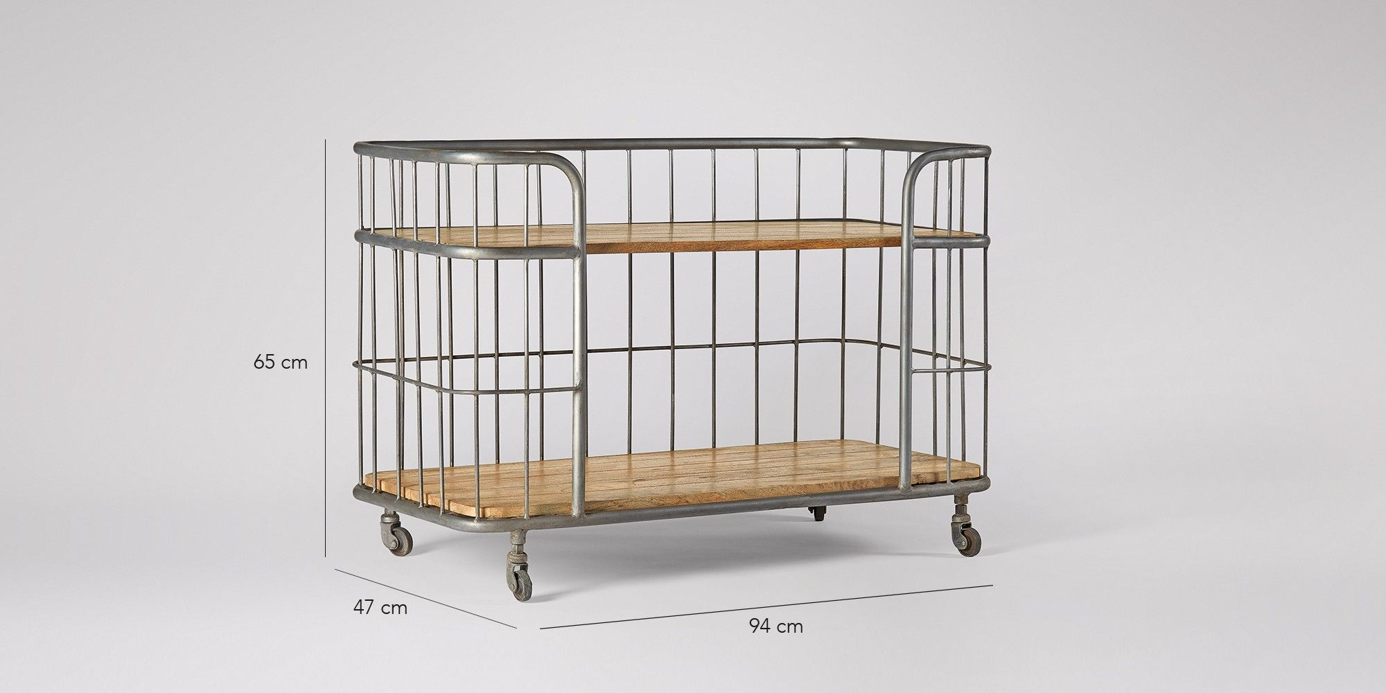 Swoon Editions Trolley industrial style in mango wood iron 269