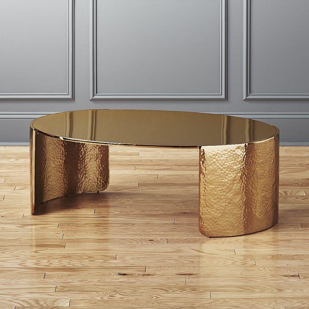 Cuffgoldhammeredcoffeetblshf17 1x1 Gold Coffee Table Hammered