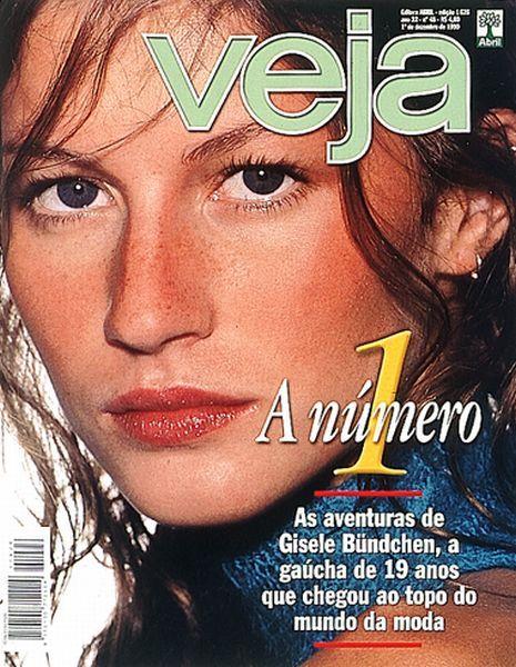 1/12/99: A edição de número 1626 de VEJA narrou a trajetória de uma jovem brasileira de sucesso: aos 19 anos, Gisele se tornara a modelo mais requisitada do mundo da moda.  Acesse a edição completa no Acervo Digital de VEJA: http://goo.gl/Ca55S