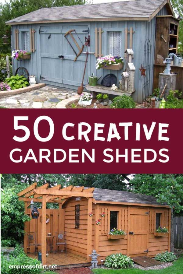 50 Creative Garden Sheds Photo Gallery  Empress of Dirt  50 creative garden shed ideas for storage crafts potting plants and sleeping Browse the photos