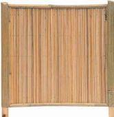 Bambuszaun Hachin Sichtschutz Bambus Mit Stabe Von 12mm Und Rahmen